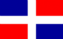 DOMINICAN REPUBLIC - 5 X 3 FLAG